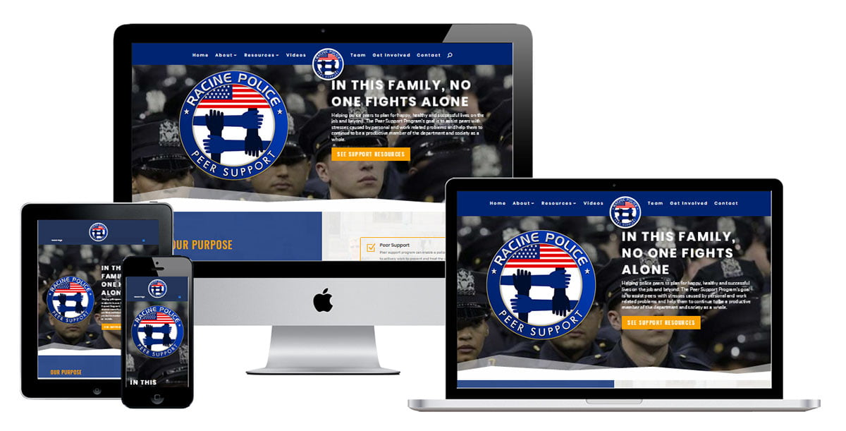 police department website design