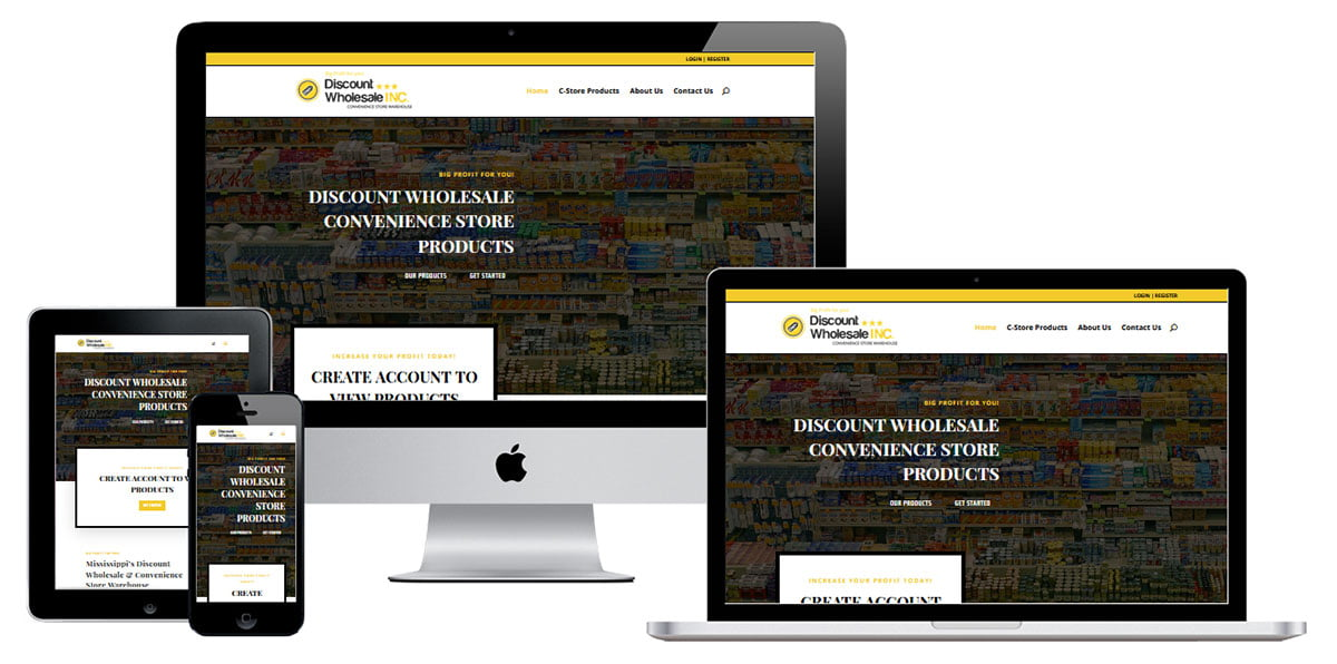 wholesale distribution website design