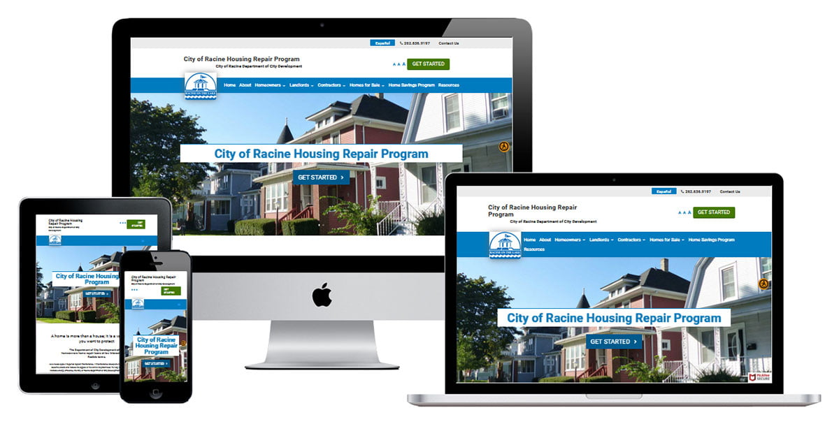 city government website design